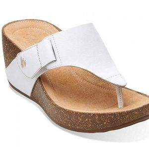 NEW! Clark's Leather Wedges